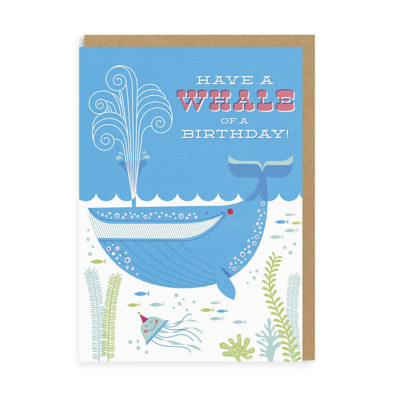 Whale Of A Birthday Greeting Card