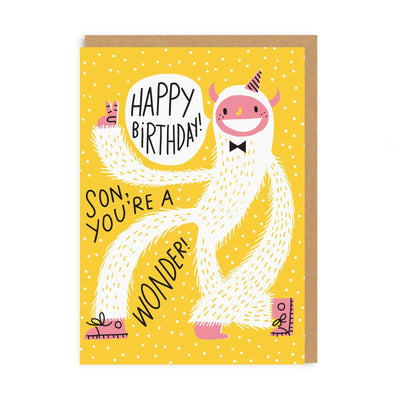 Yeti Son Greeting Card