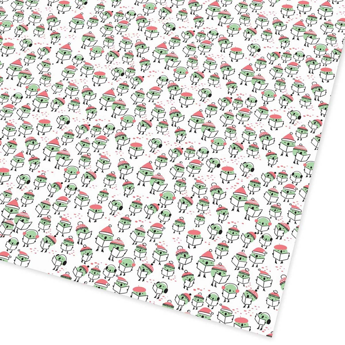 Peas On Earth Flat Giftwrap