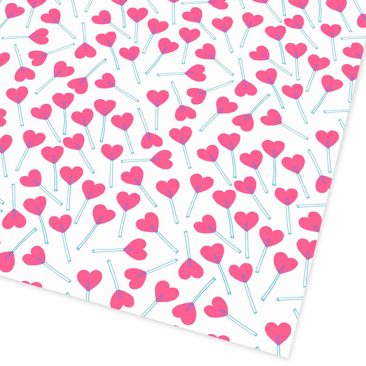 Love Heart Lollies Flat Giftwrap