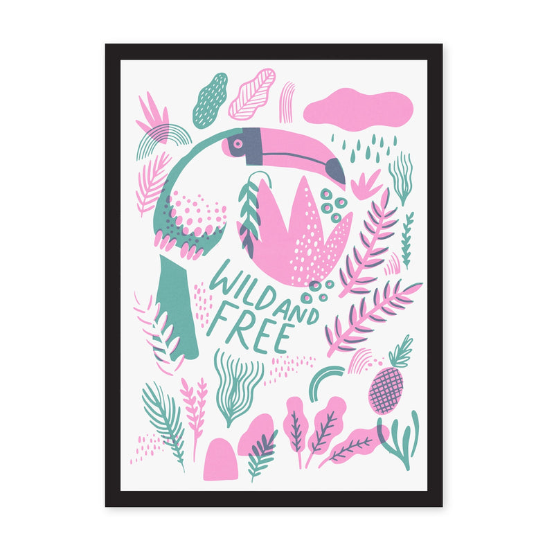 A3 Wild and Free Riso Print