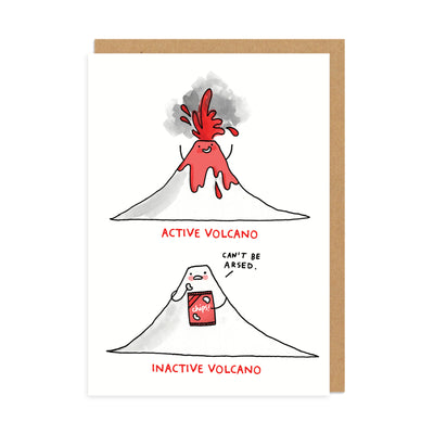 Inactive Volcano Greeting Card