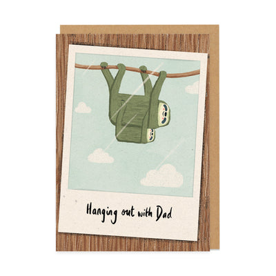 Hanging Out With Dad Greeting Card