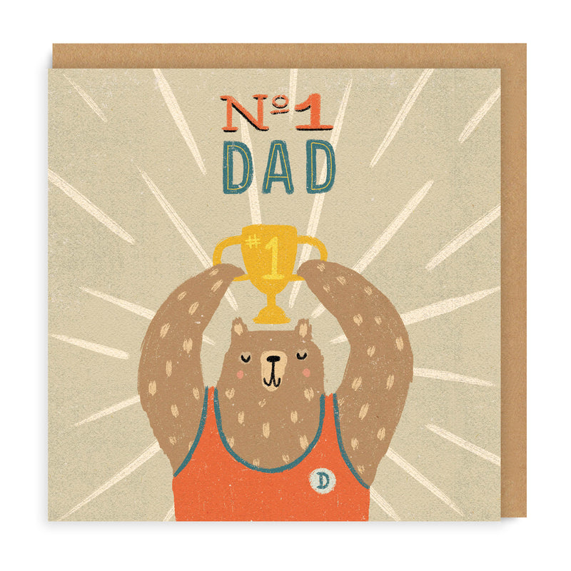 No. 1 Dad Greeting Card