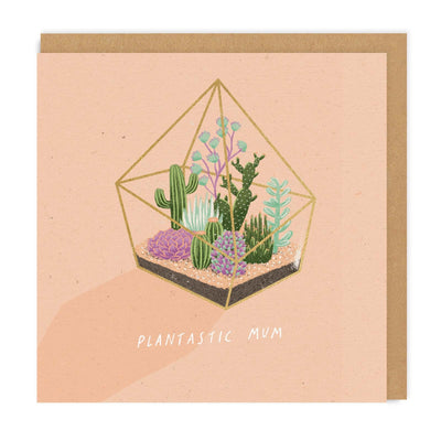 Plantastic Mum Square Greeting Card