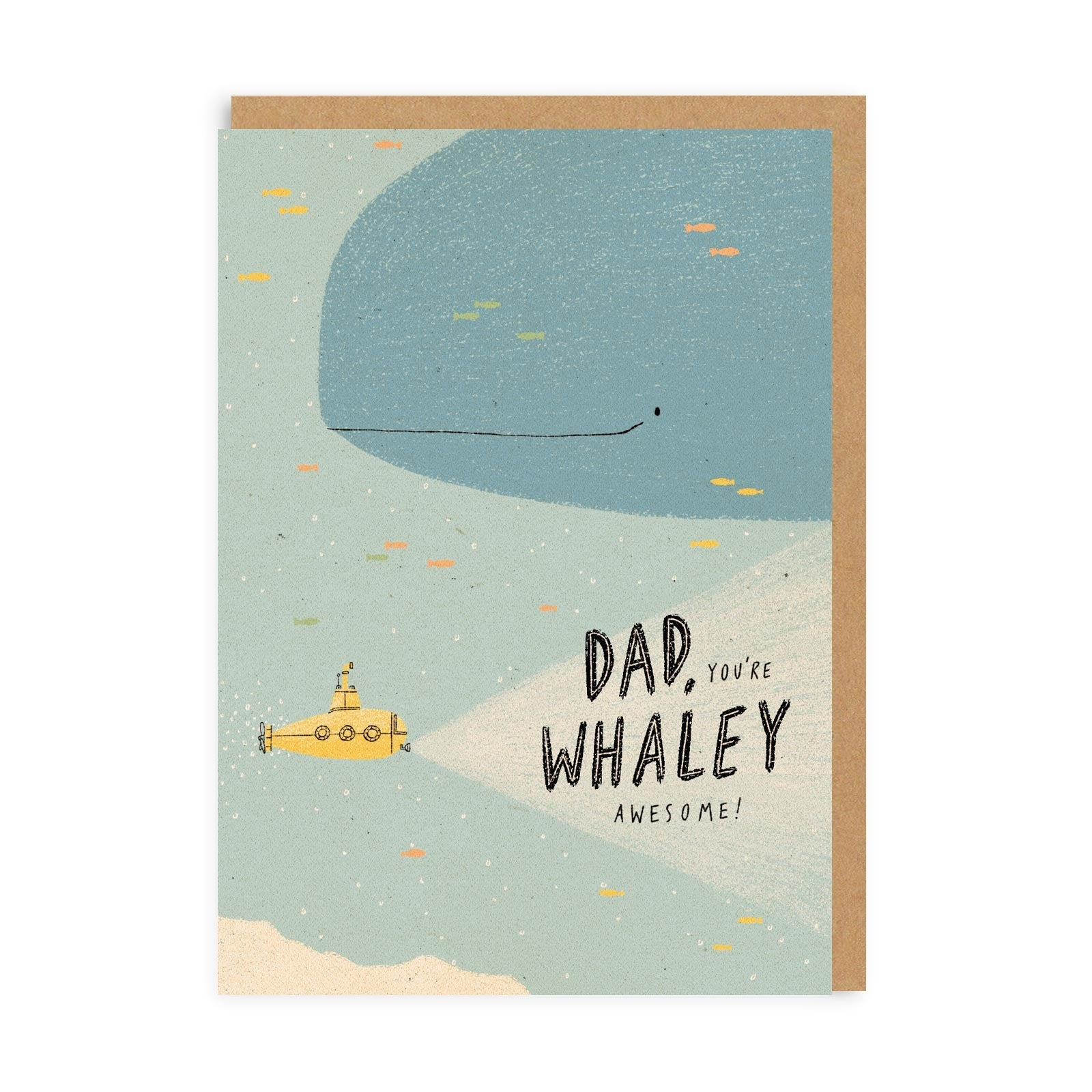 Dad You're Whaley Awesome Greeting Card