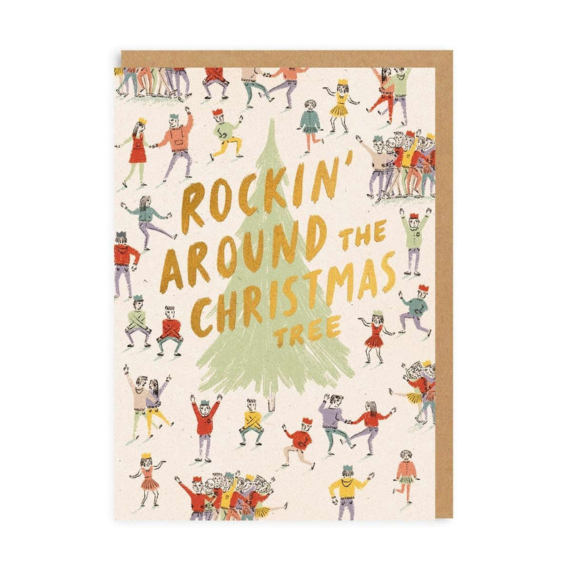 Rockin Around The Christmas Tree Greeting Card