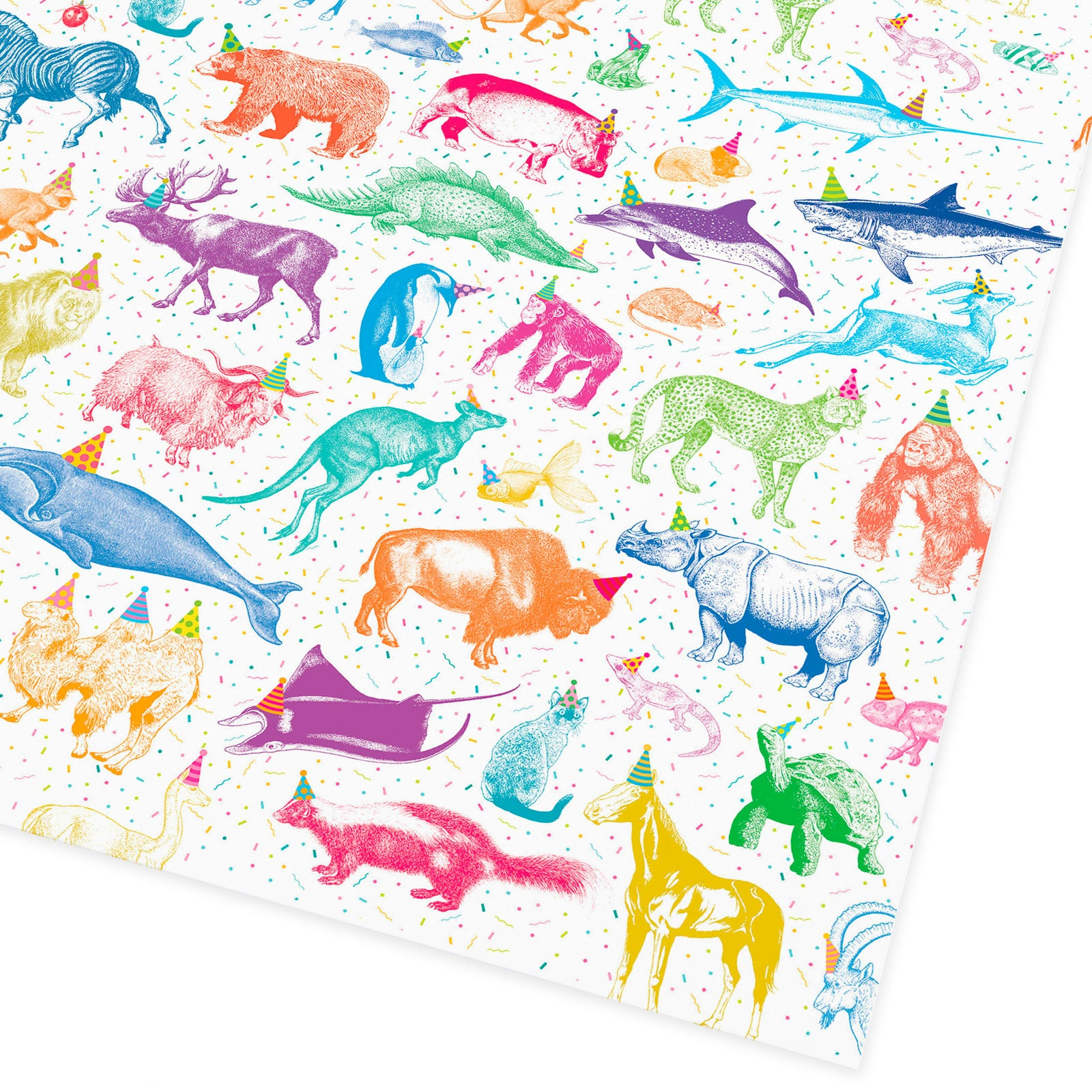Party Animals Flat Giftwrap