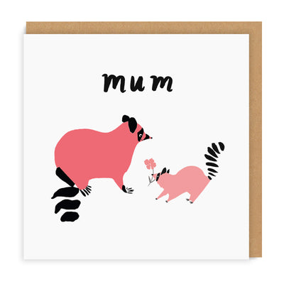 Mother's Day Racoon Greeting Card