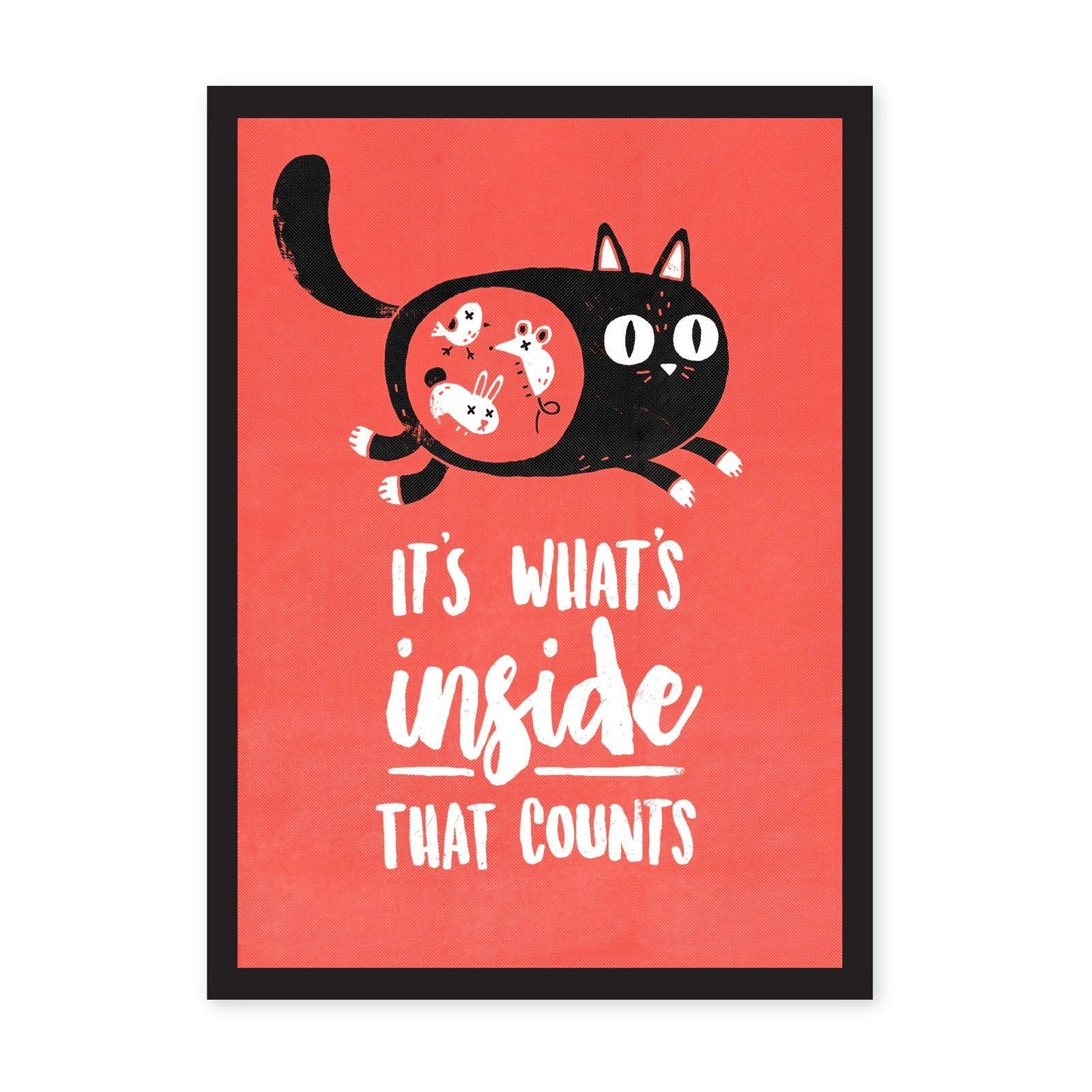 A4 Whats Inside That Counts Riso Print