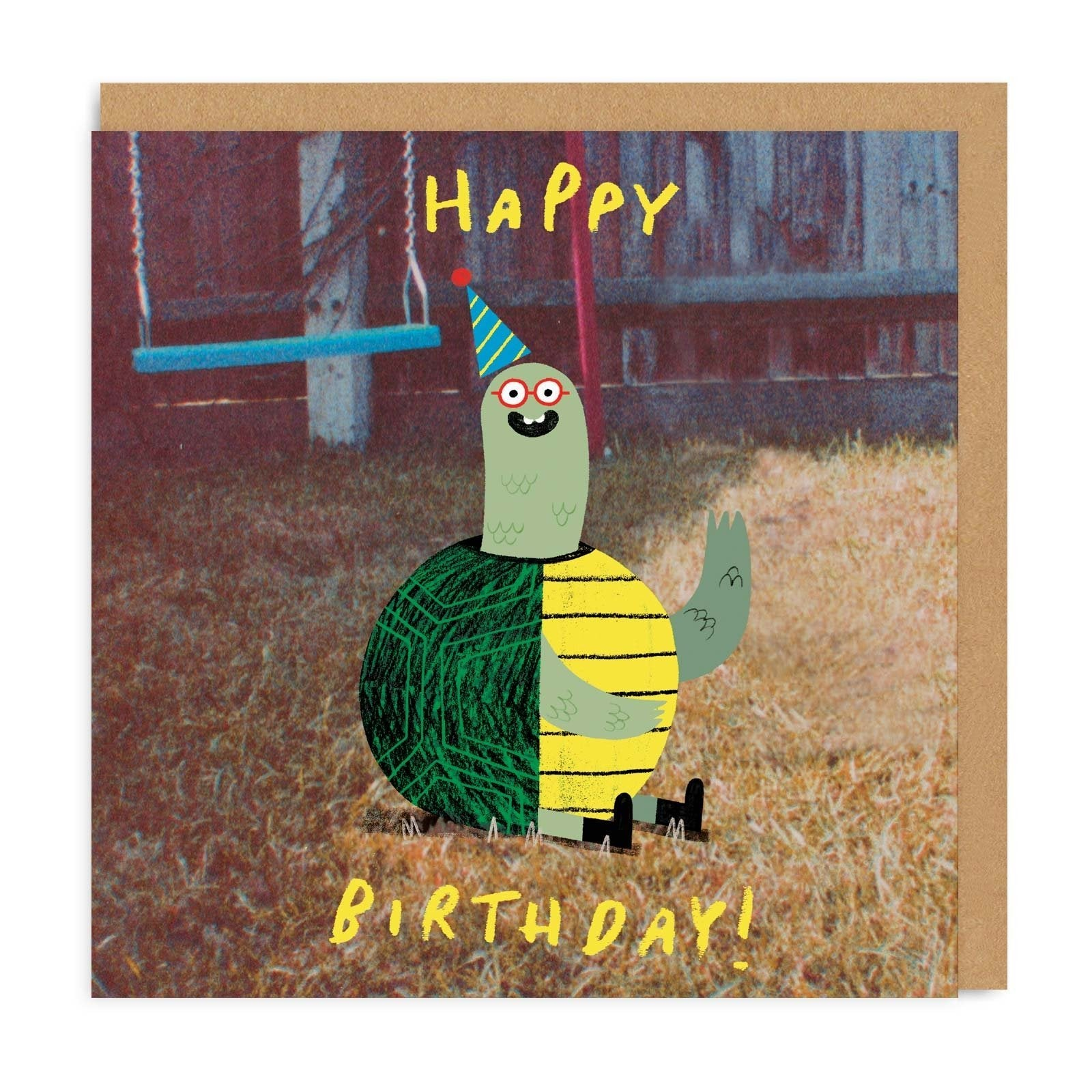 Tortoise Square Greeting Card