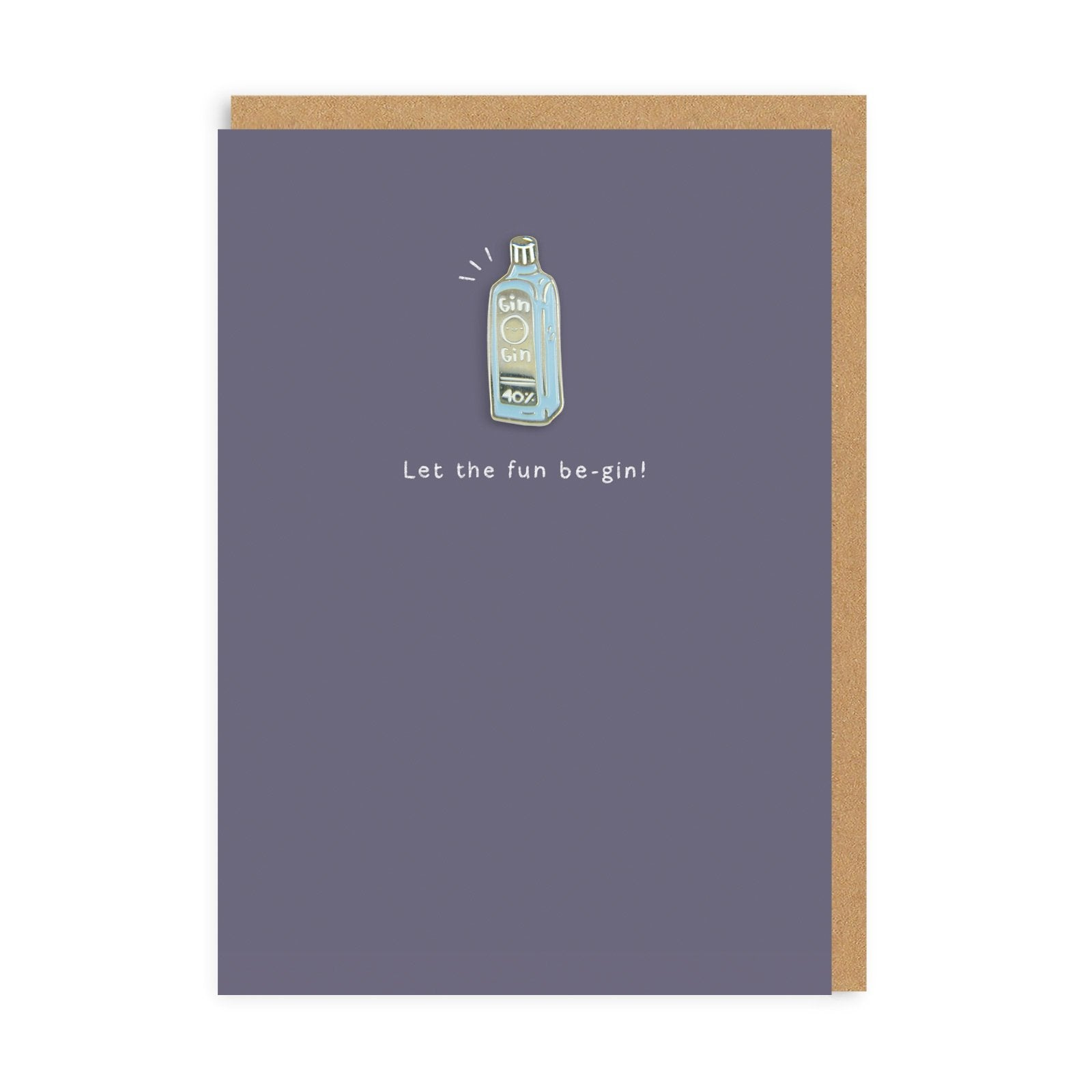 Gin Enamel Pin Greeting Card