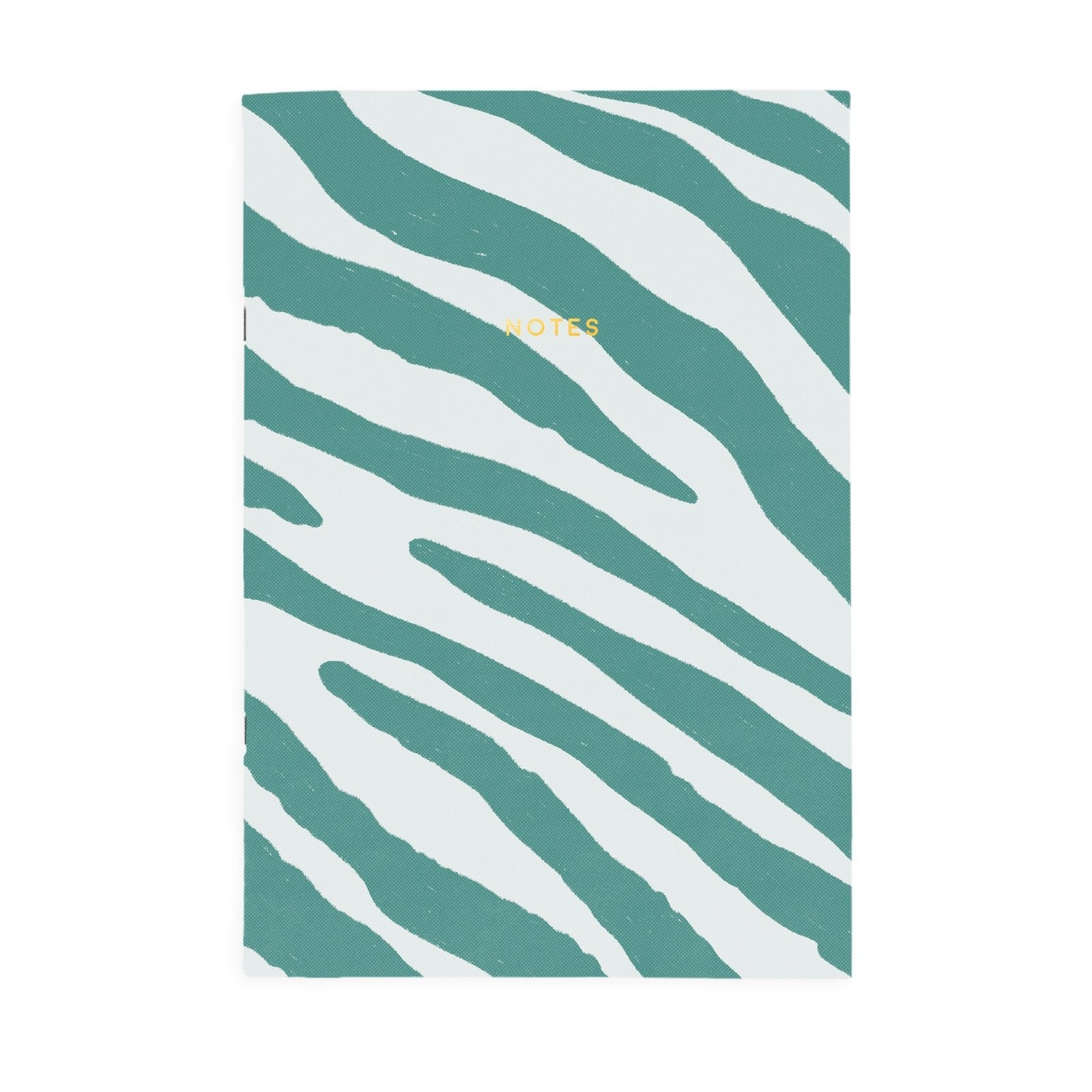 Teal Zebra Riso A4ish Notebook