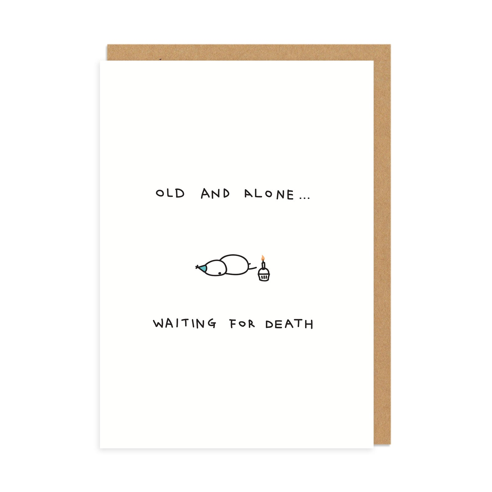 Old and Alone Greeting Card
