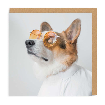 Sunglasses Corgi Square Greeting Card