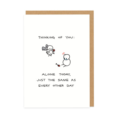 Alone Today Greeting Card