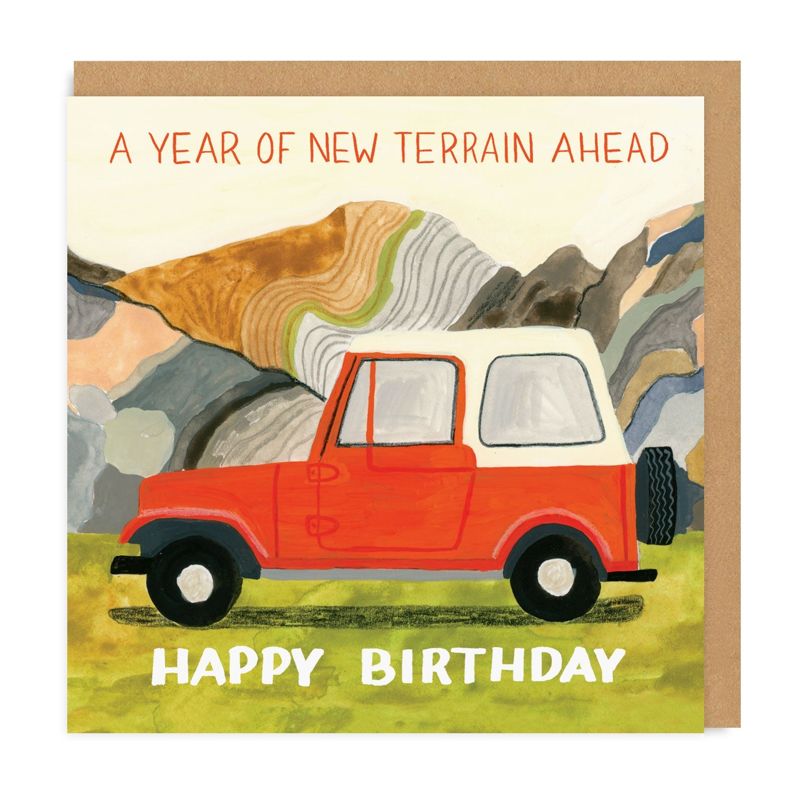 Year of New Terrain Birthday Square Greeting Card