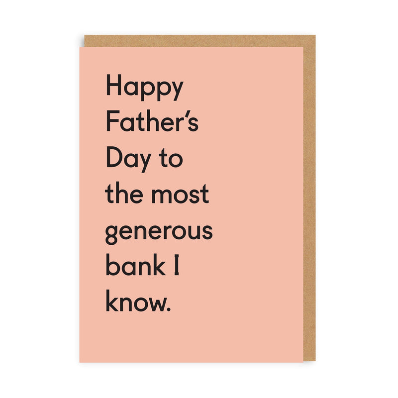 Generous Bank Greeting Card