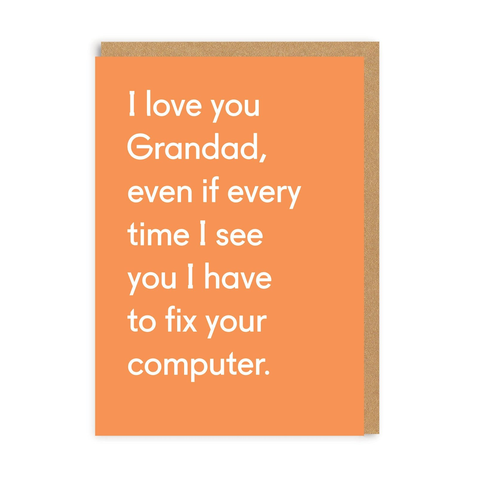 I Love You Grandad Greeting Card