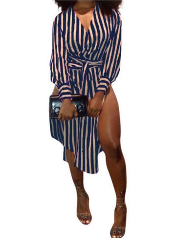 """About Business"" Stripe Dress"
