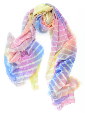 Linear Dreams Silk Scarf
