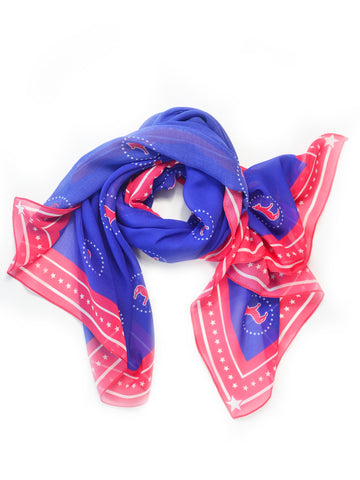 Red, White, and Blue Fashion Scarf