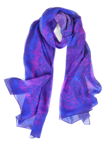 Fall Floral Silk Scarf