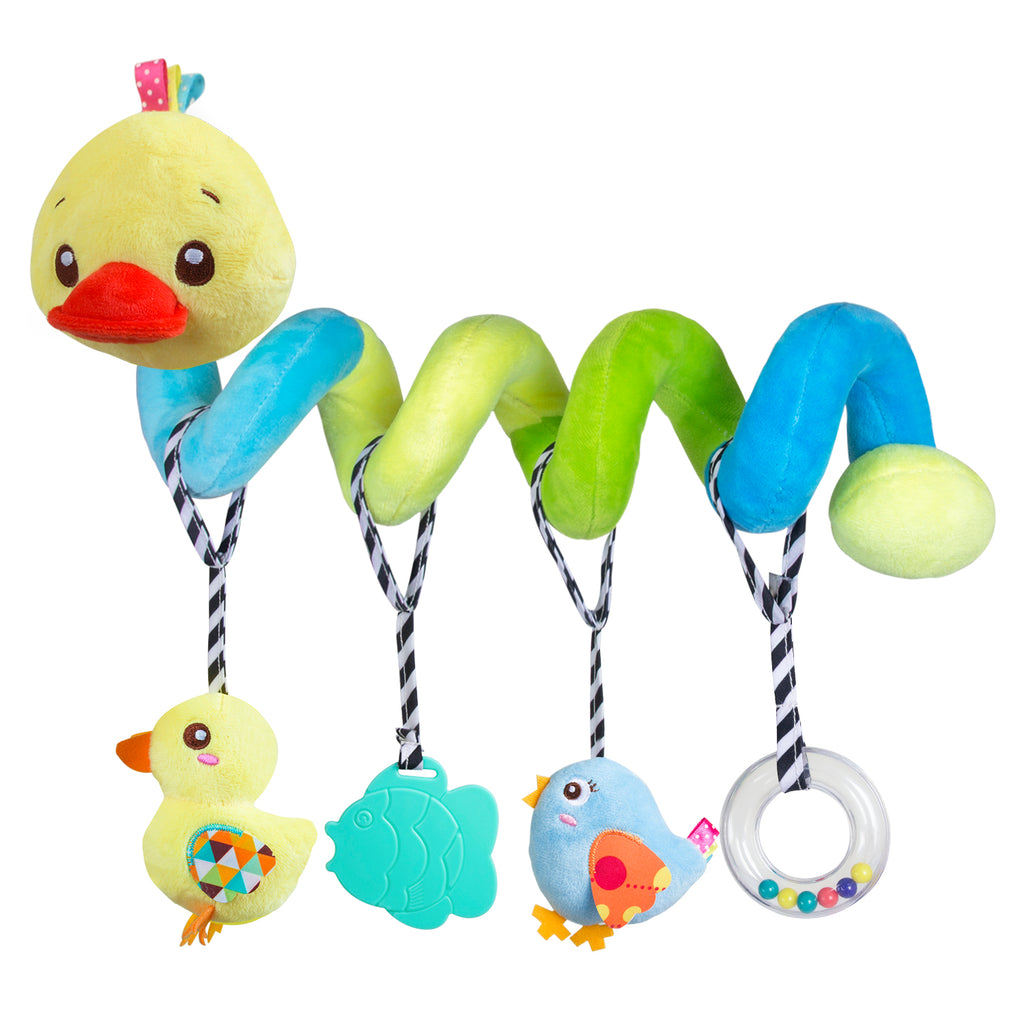 Baby Stroller Car Seat Hanging Bell Rattle Plush Dolls Toy Crib Accessories