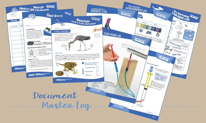 TeacherGeek Activity Document Master Log