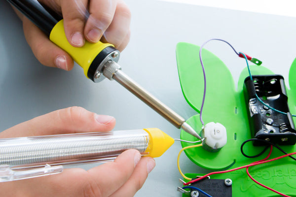 Soldering Package: Soldering Iron, Lead-Free Solder & Stand