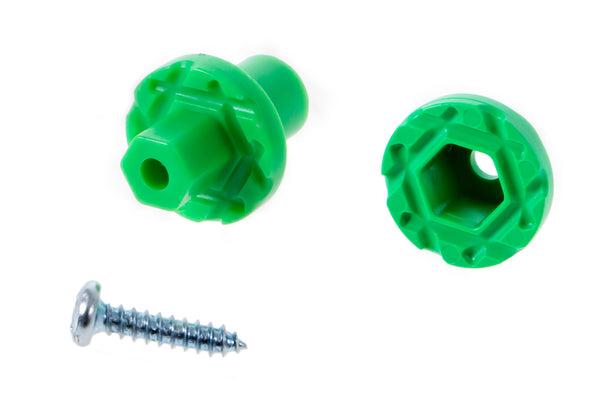 Mini Hub Assembly (Green) - Dowel Mount - TeacherGeek