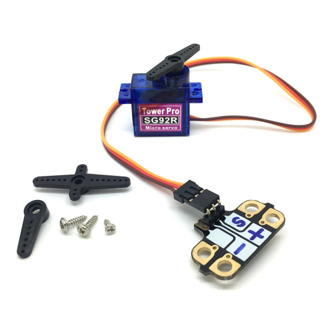 Micro Servo with Crumbliser Attached - TeacherGeek