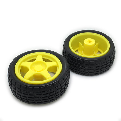Pair of Wheels for Crumble Geared Motors - TeacherGeek