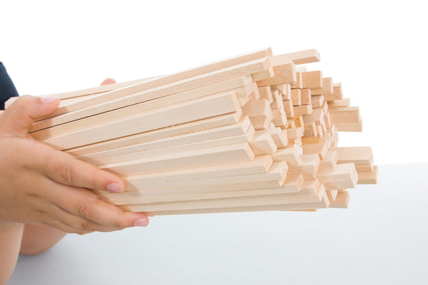 Basswood Strips - 5mm x 10mm x 300mm (12in)