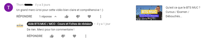 YOUTUBE | Commentaire de Tom G. | AIDE BTS MCO
