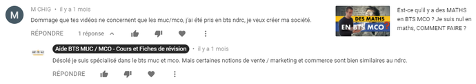 Youtube | Commentaire de CHIG | AIDE BTS MCO