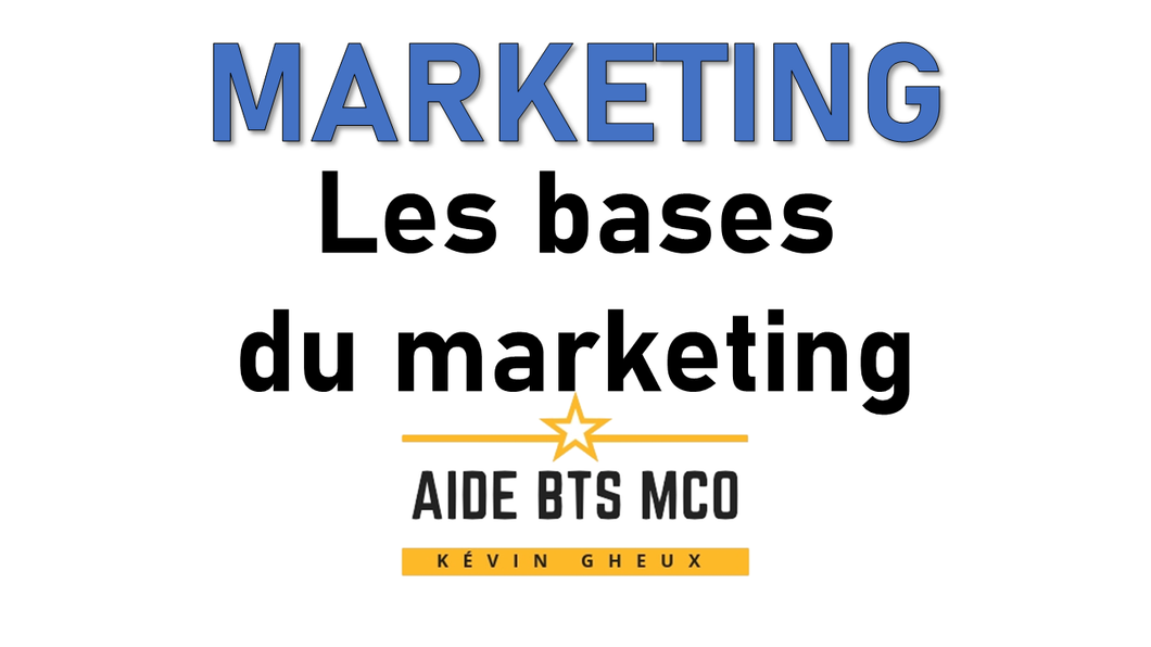 #25 Les bases du marketing - Cours de MARKETING du BTS MCO