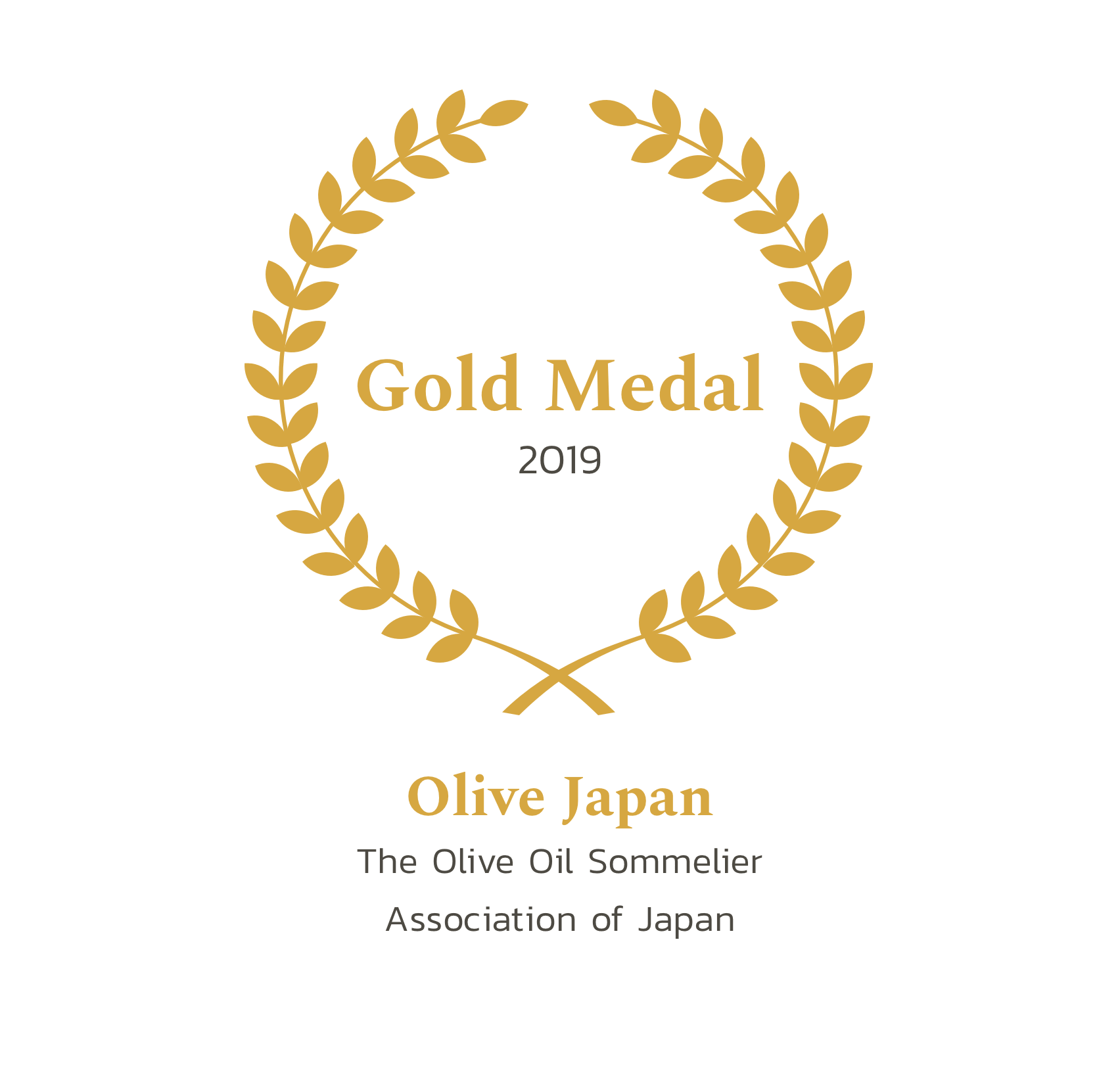 OLIVE JAPAN 2019 - GOLD MEDAL The Olive Oil Sommelier Association of Japan