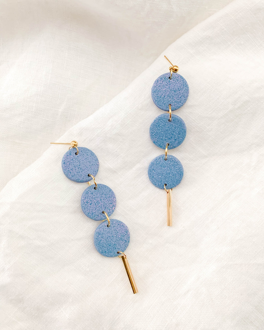 The Charley Earring- Iridescent Blue