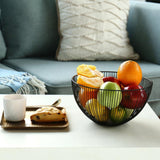 Black Wire Fruit Bowl