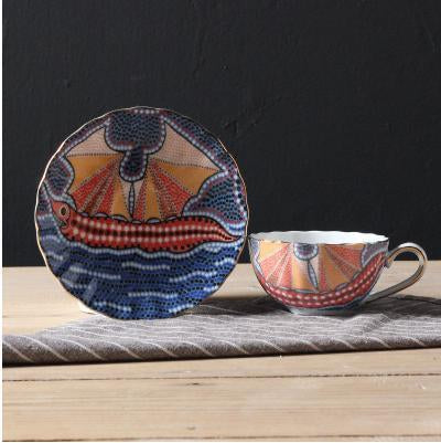 Bone China Mosaic Cup And Saucer
