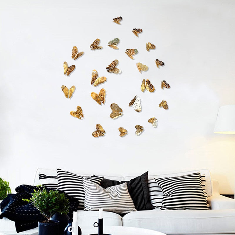 Butterfly Wall Stickers (12pcs)