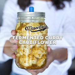 Masontops Fermented Curry Cauliflower