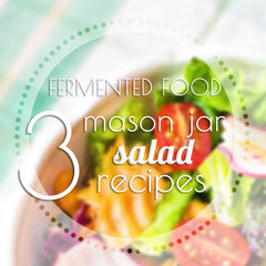 Healthy Salad with Vegetables in a Mason Jar