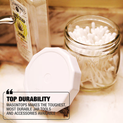 White Tough Top Airtight Lids
