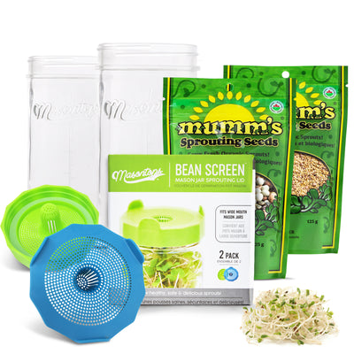 Deluxe Bean Sprouting Jar Set