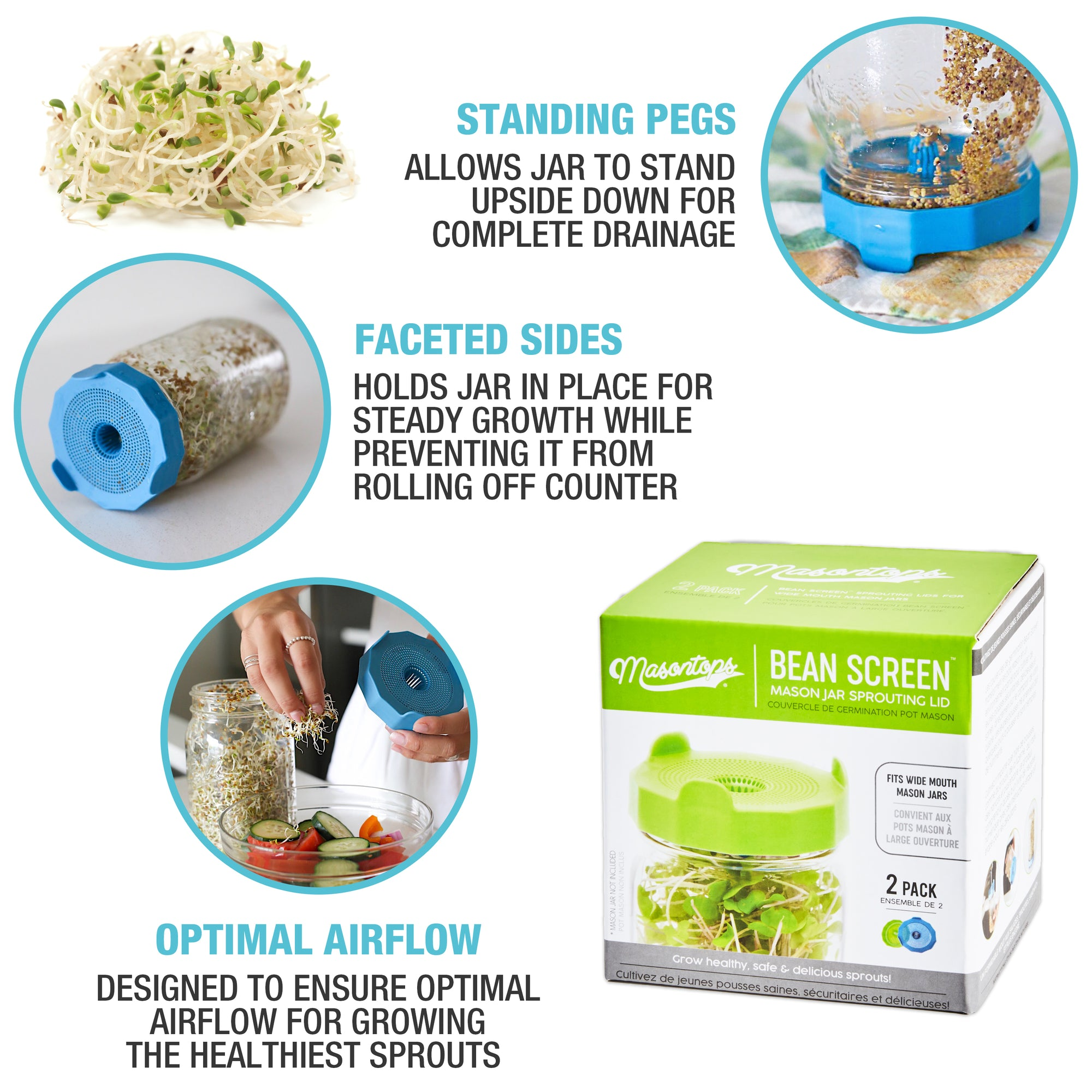 Filter Mason Can Lid Sprouting Net Cover Bean Sprouts Filter Filter Mason Can Lid Sprouting Net Cover Bean Sprouts Filter Strainer Kit Germination Cover