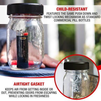 Jar Safe Child-Resistant Lids