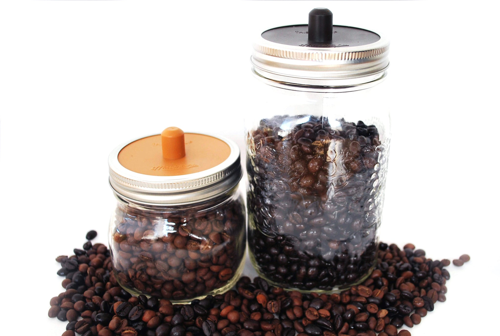 ... Coffee Caps   Silicone Coffee Bean Storage Lid For Mason Jars   WIDE  MOUTH ...