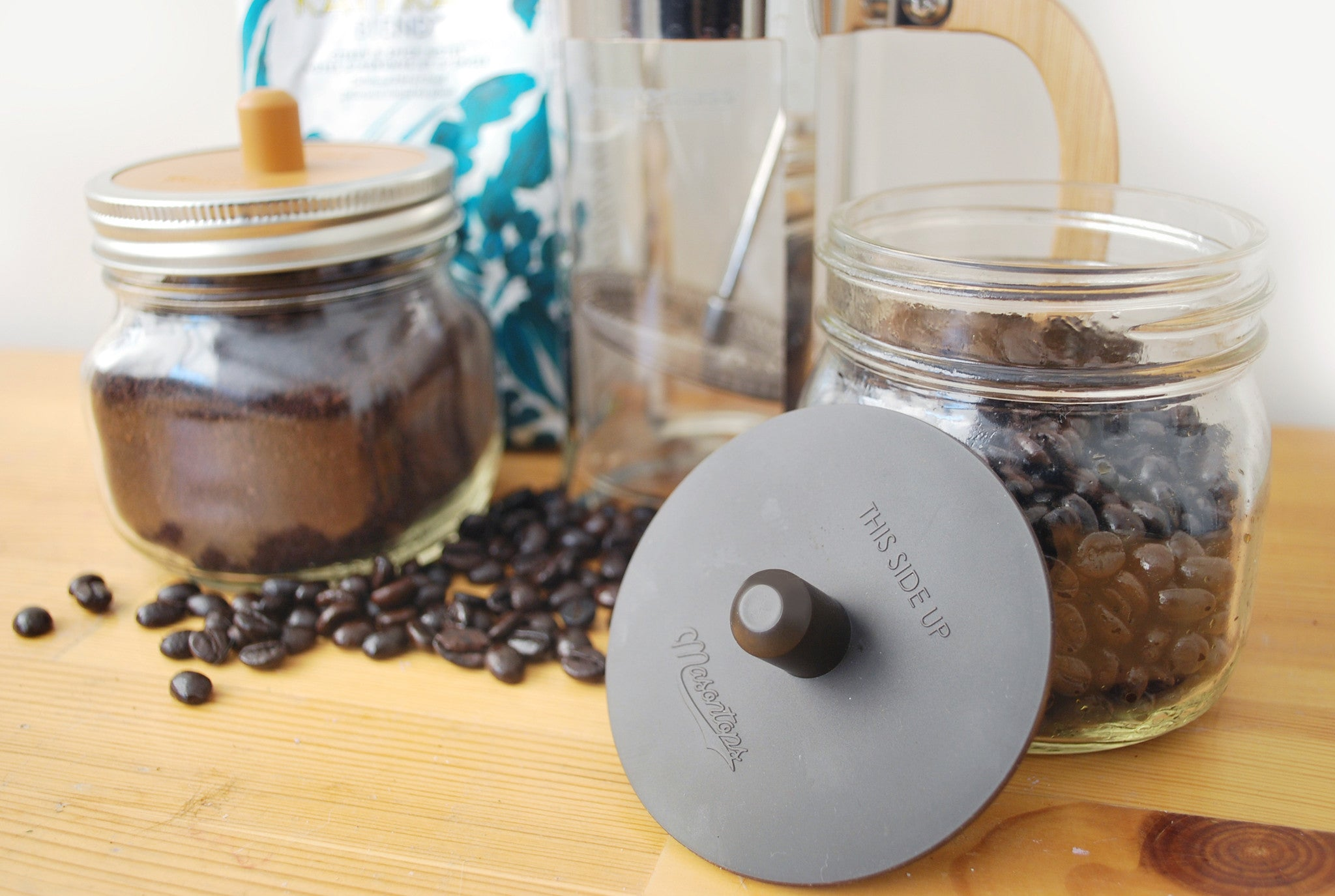 ... Coffee Caps - Silicone Coffee Bean Storage Lid for Mason Jars - WIDE MOUTH ... & Coffee Caps - Silicone Coffee Bean Storage Lid for Mason Jars - WIDE MOUTH